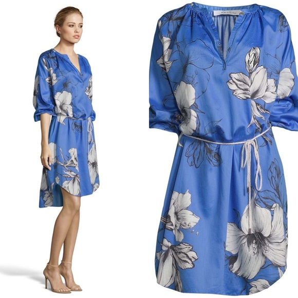 [Robert Graham] Darla Floral Satin Dress